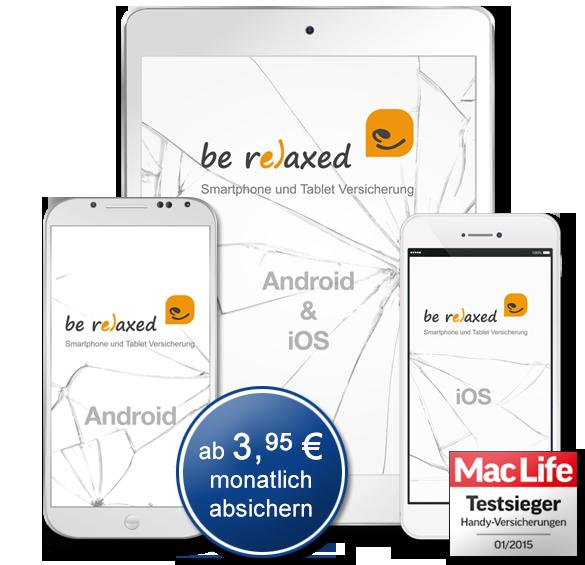 be relaxedDie Handyversicherungs-App für Smartphones, iPhones, Tablets & iPads